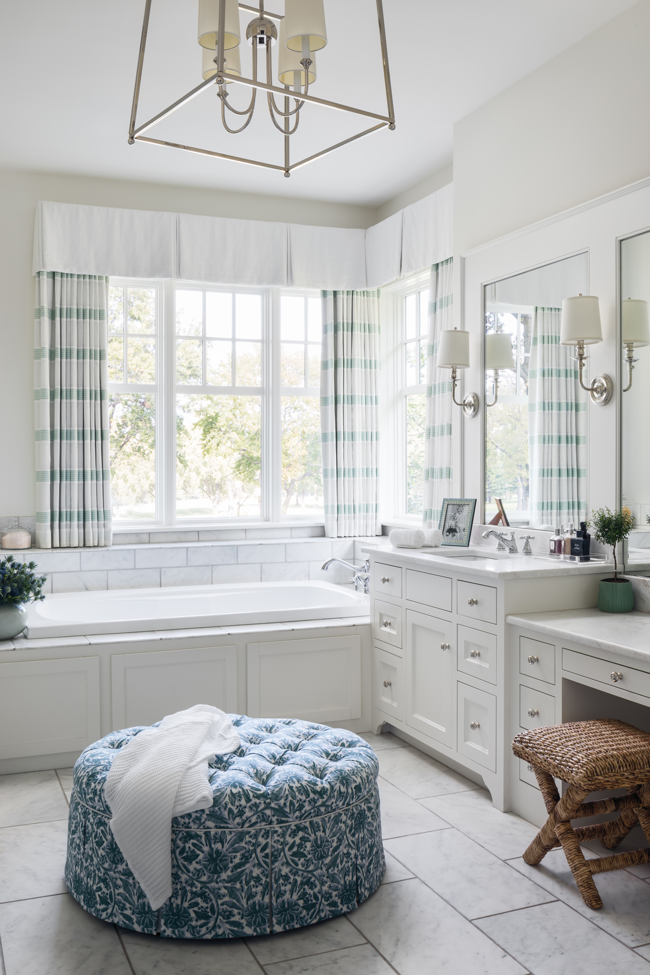 elegant bathroom with natural light