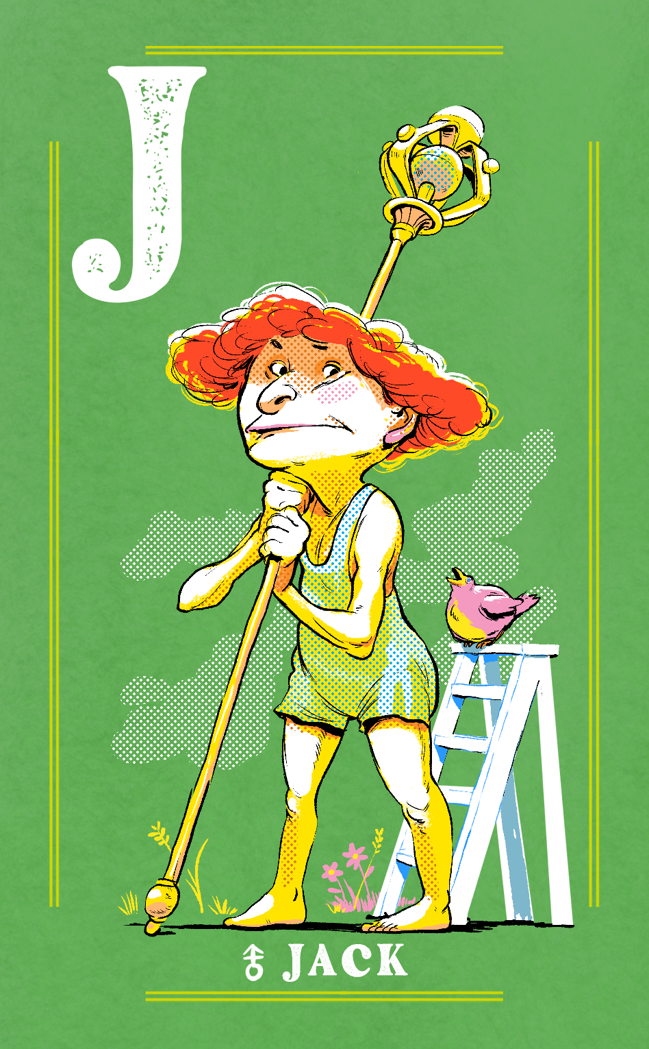 Androgynous Jack Card for Naked Court: The Card Game