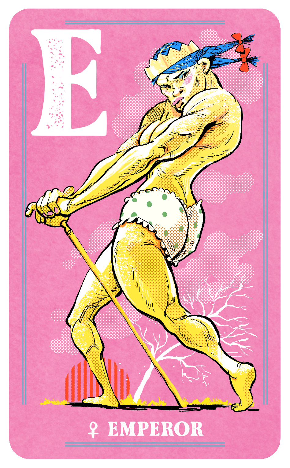 Female Emperor Card for Naked Court: The Card Game