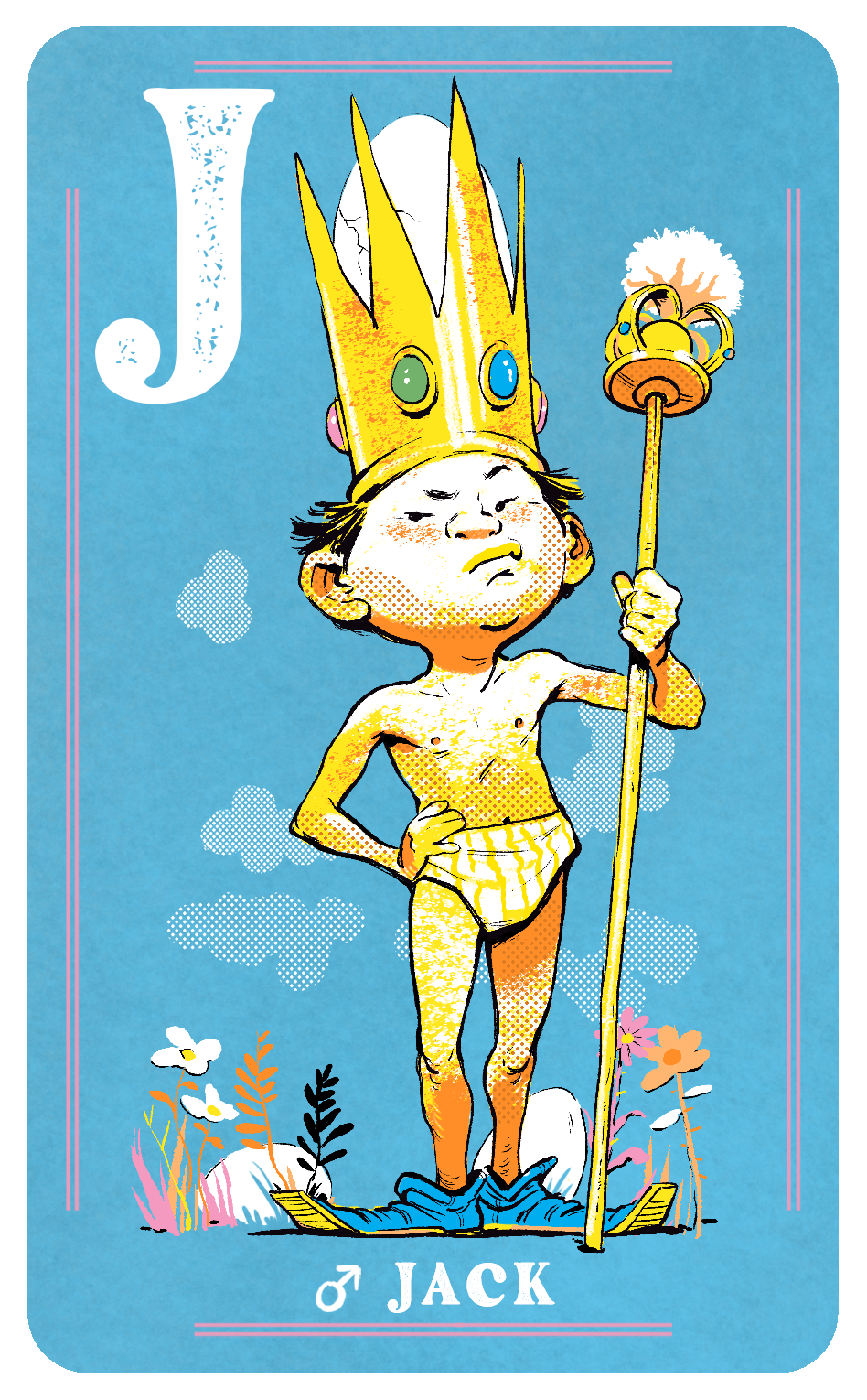 Male Jack Card for Naked Court: The Card Game