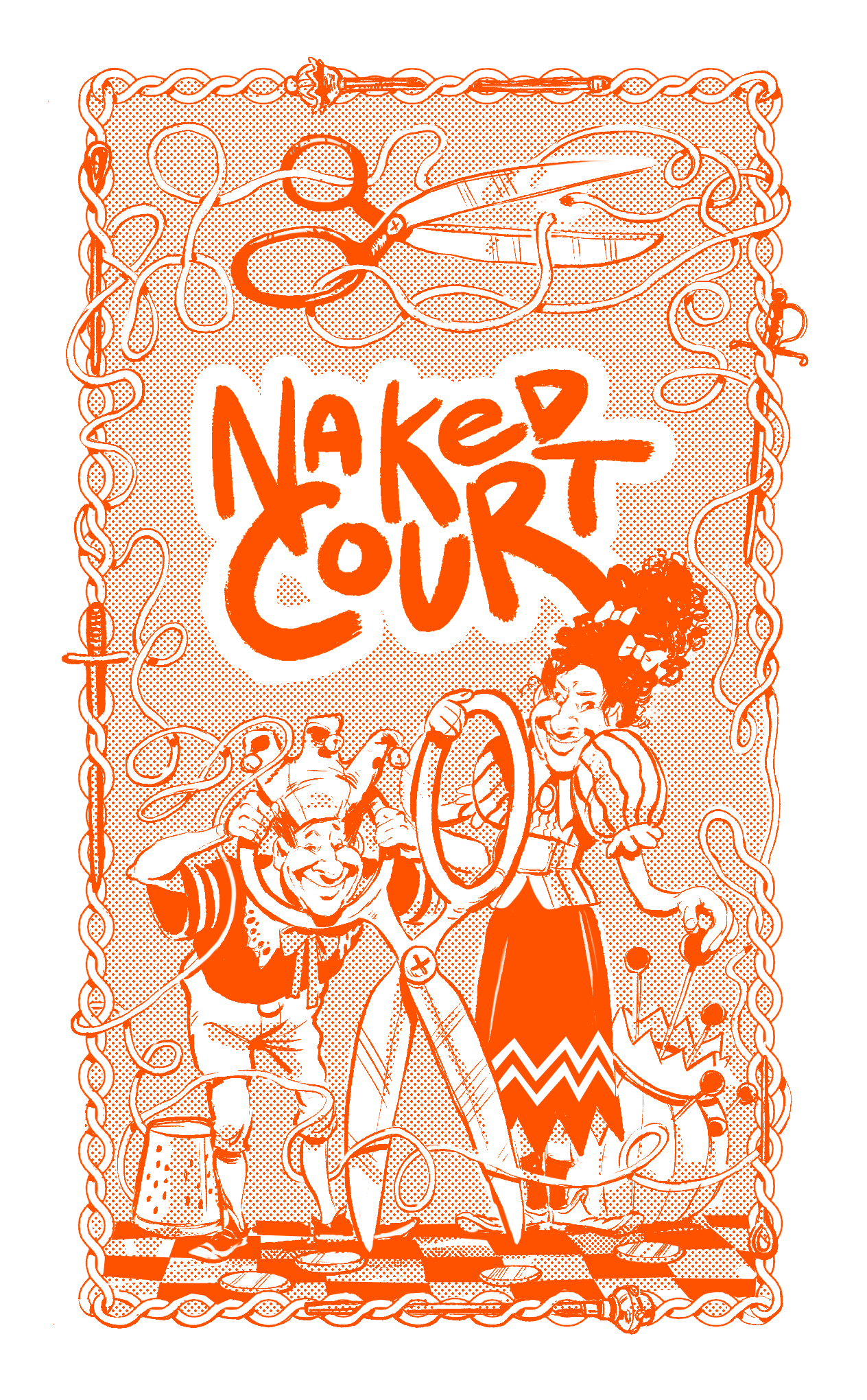 Back of a Naked Court: The Card Game card, featuring the tailors