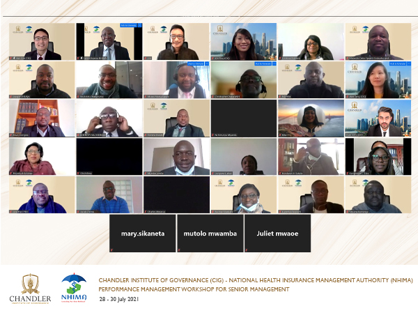CIG and the National Health Insurance Management Authority (NHIMA) of Zambia Conduct Workshop on Performance Management and Leadership
