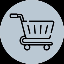 Einkaufswagen-Symbol, um darzustellen, dass es sich um ein besonderes Angebot handelt.