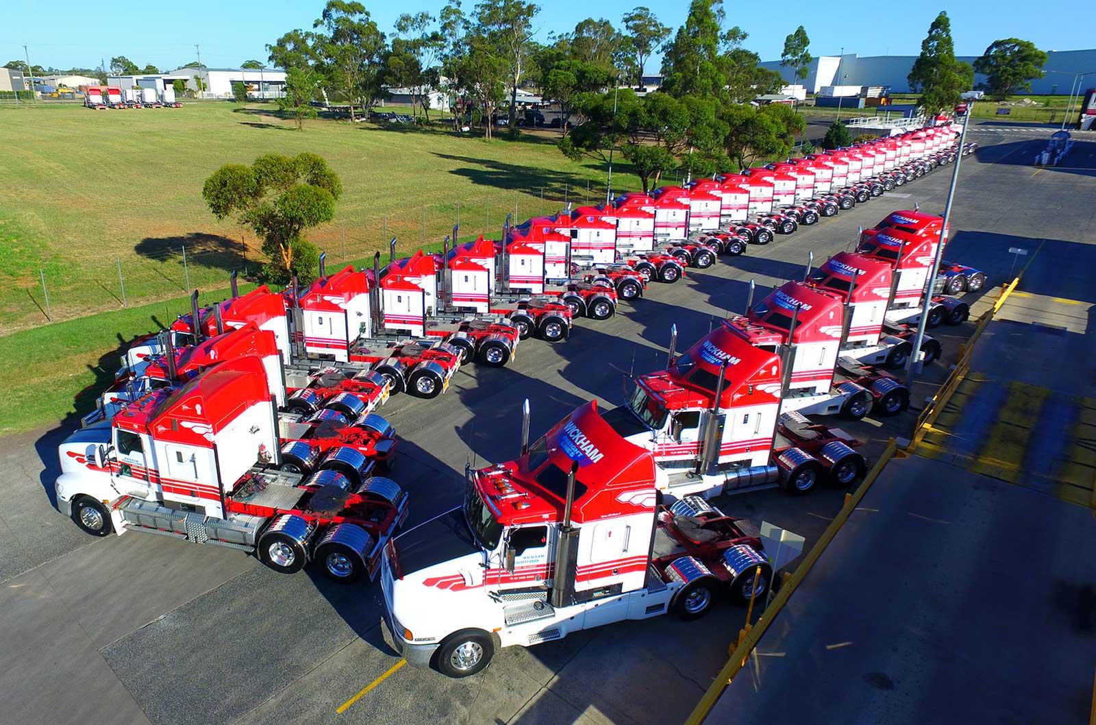 Wickham Freight Lines trucks