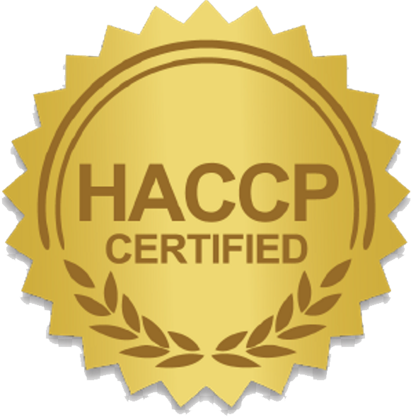 HAACP certified