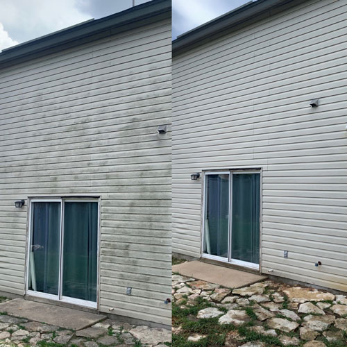 Before and after picture of a stunning property in San Antonio.