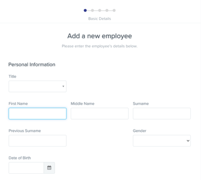 Pay run automation - Add employee