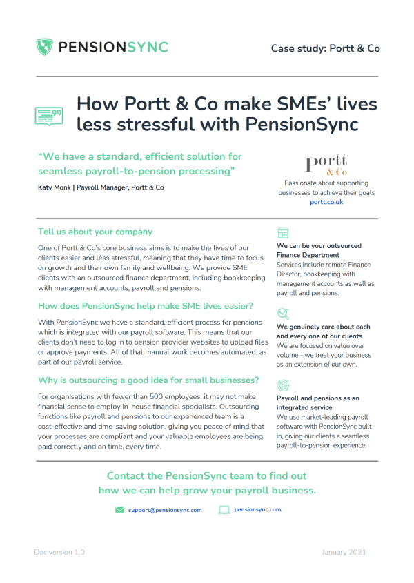 Portt & Co case study