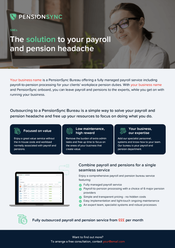 PensionSync Benefits of Payroll and Pension Outsourcing - SMEs