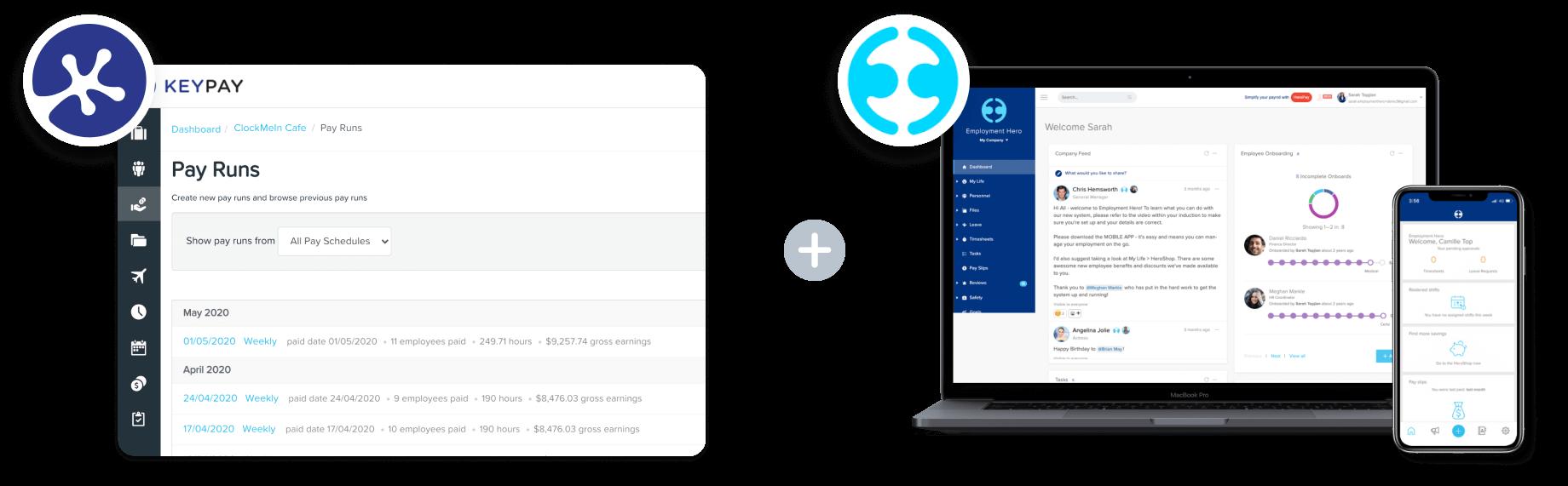 KeyPay Employment Hero Dashboard