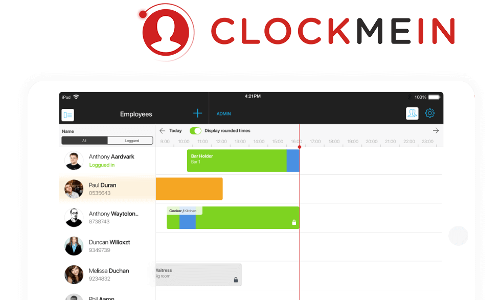 KeyPay's iPad app Clock Me In for online timesheets and clock-in tools