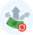 Automated payroll icon