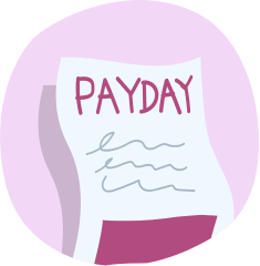 Pay day icon