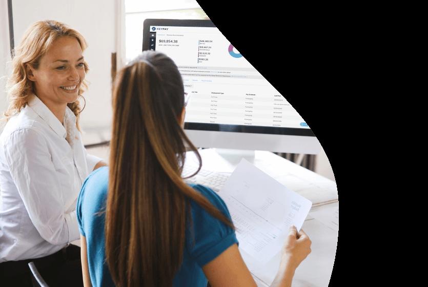 Women working in payroll using KeyPay