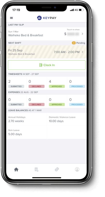Employee self-service WorkZone mobile app
