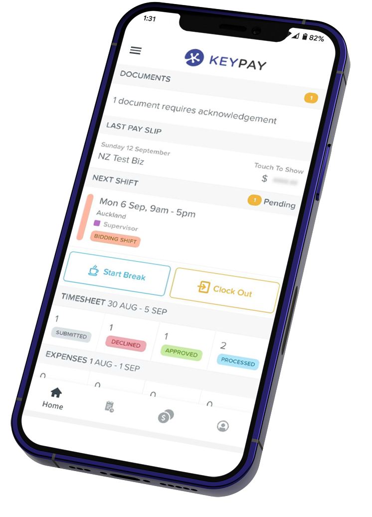 WorkZone NZ mobile screen