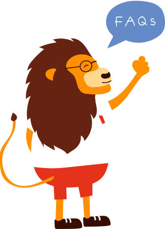 KeyPay Singapore mascot Lion illustration with FAQs quote bubble
