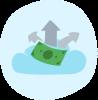 Cloud flexible payroll icon