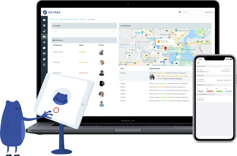 KeyPay has a suite of business management tools for your Singapore business