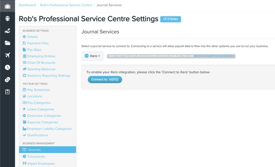 KeyPay SG Xero Journal Services