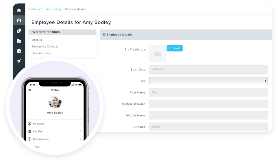 KeyPay SG Personal Details