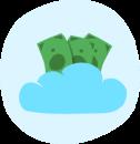 Flexible cloud payroll icon