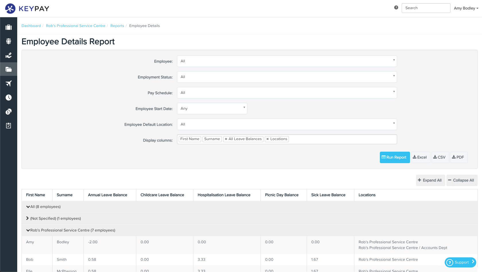 KeyPay SG Employee Details Report