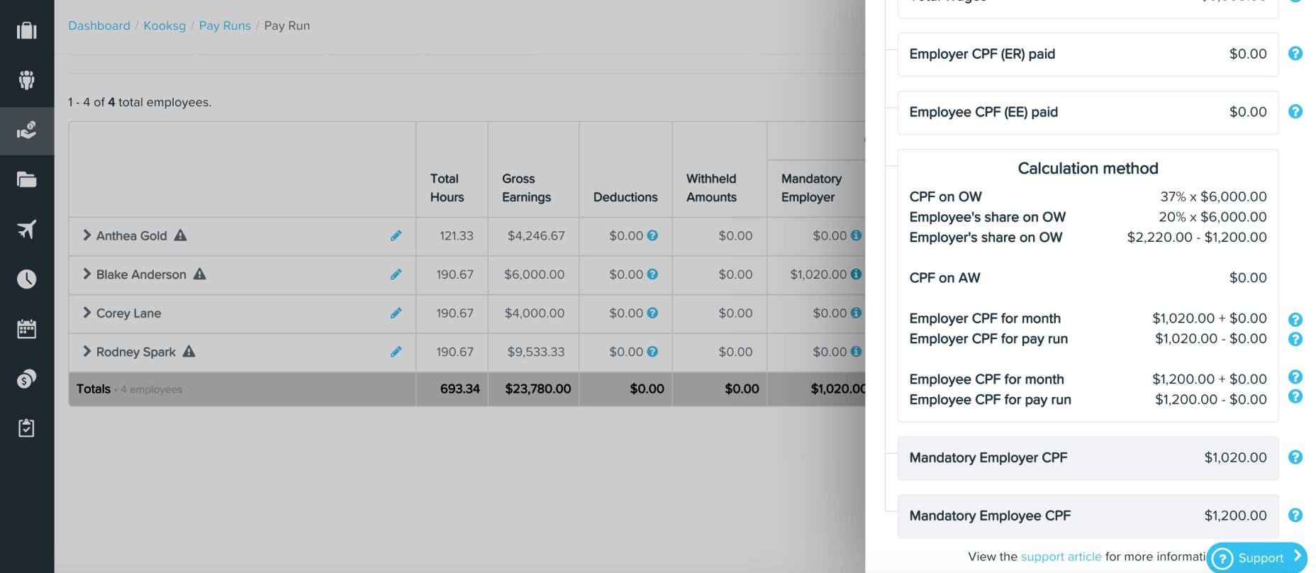 CPF calculations