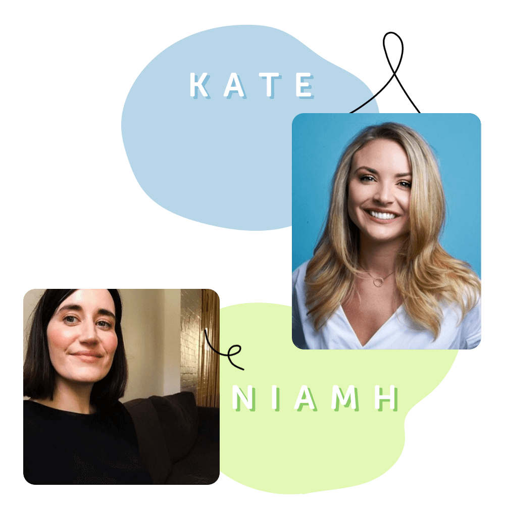 Kate Brown and Niamh Moloney, hosts of KeyPay's Pay Off podcast
