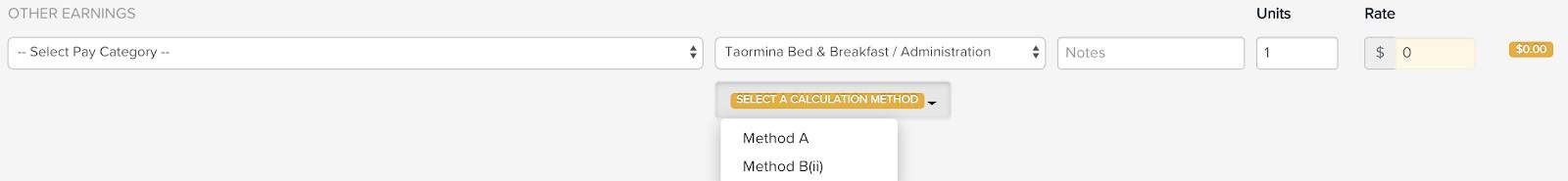 Method B(ii): Calculating withholding amounts on lump sum payments