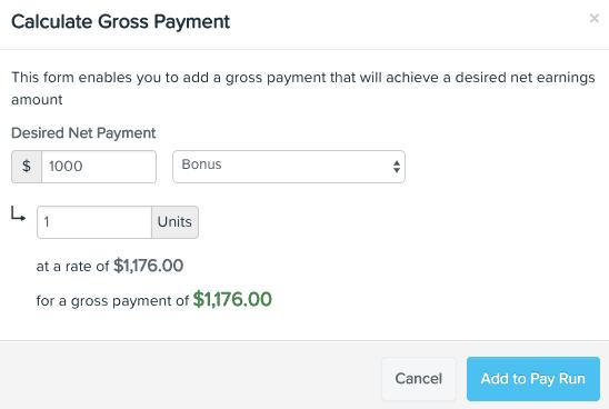 Net to Gross Calculator