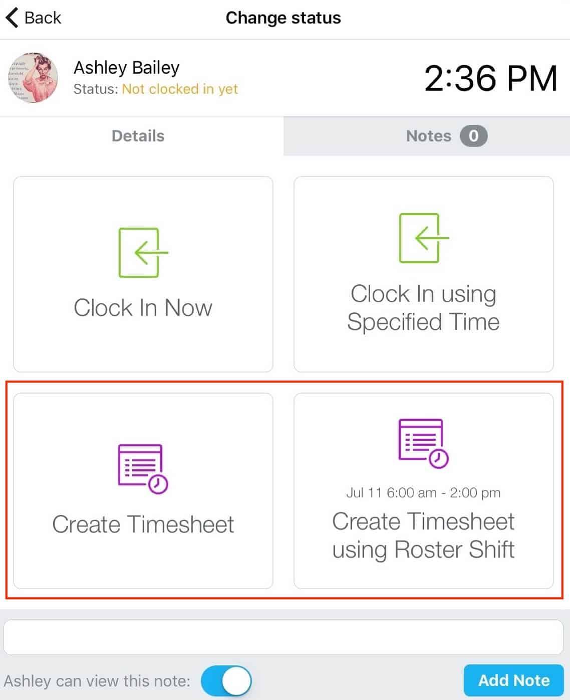 Clock Me In employee timesheets