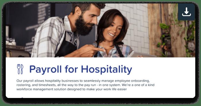 Payroll for hospitality
