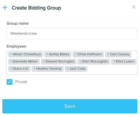 Bidding group