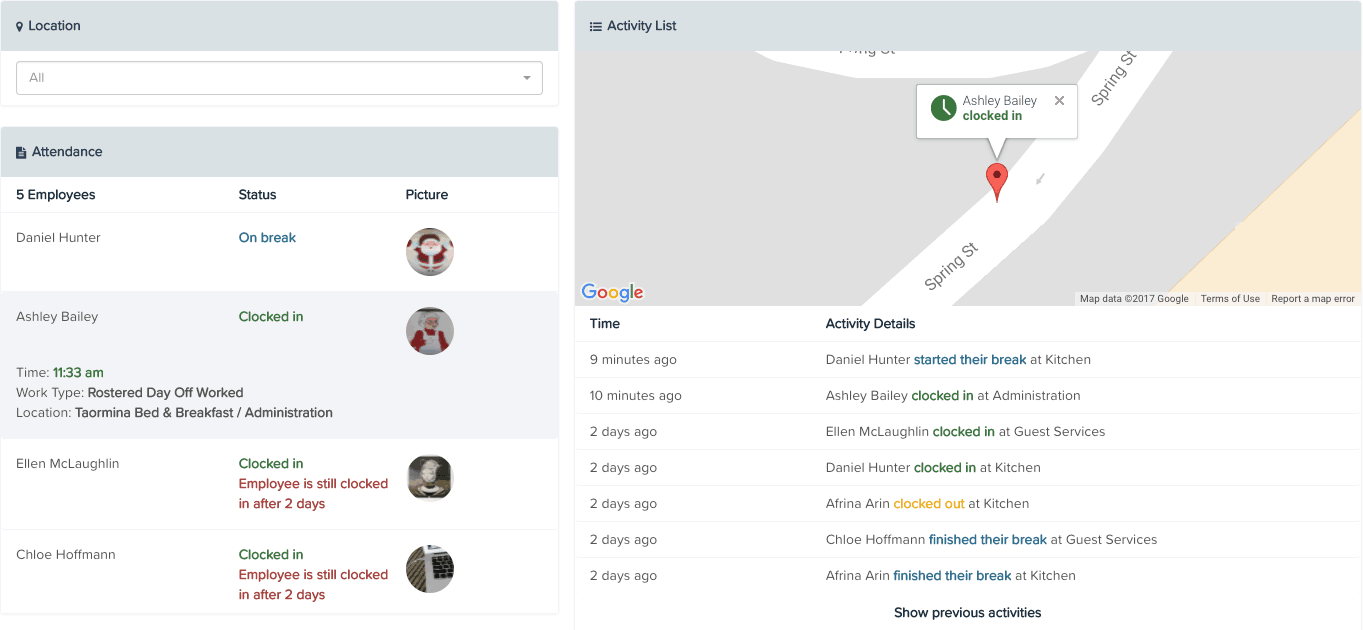 KeyPay Live View report