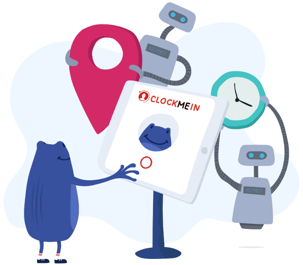 Employee clocking in on time tracking software ClockMeIn