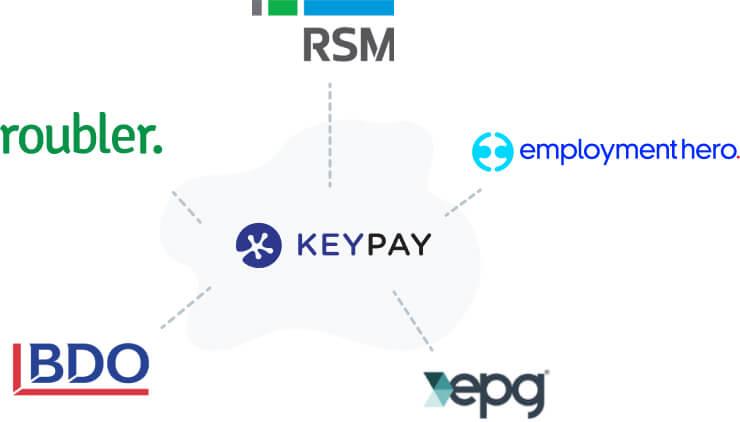KeyPay VAR partners Roubler, RSM, Employment Hero, EPG Payroll and HR, BDO