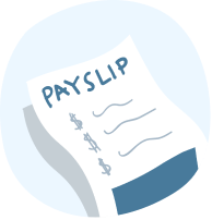 Picture of a payslip