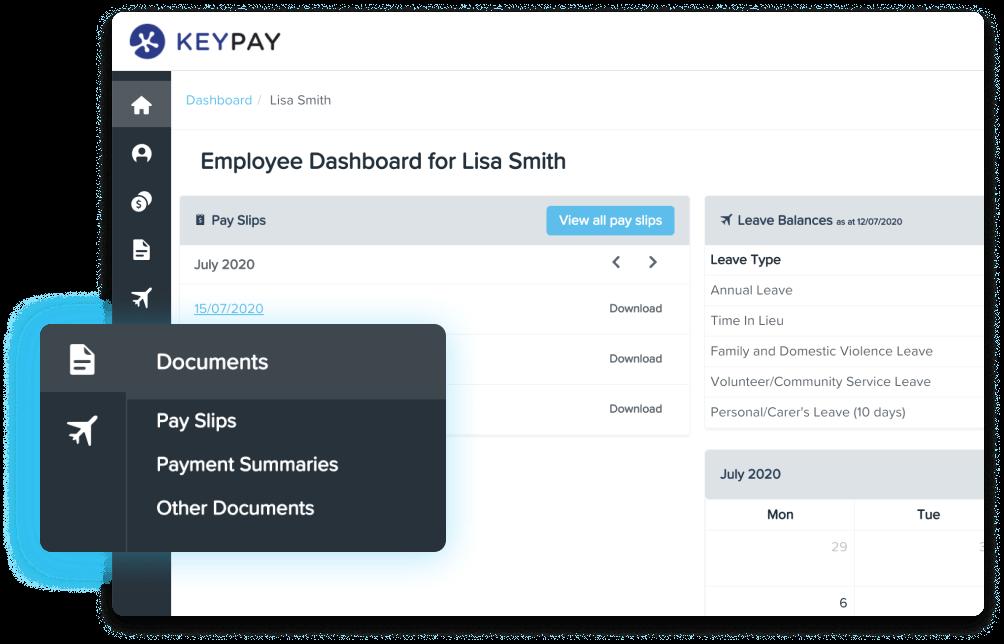 KeyPay Employee Dashboard