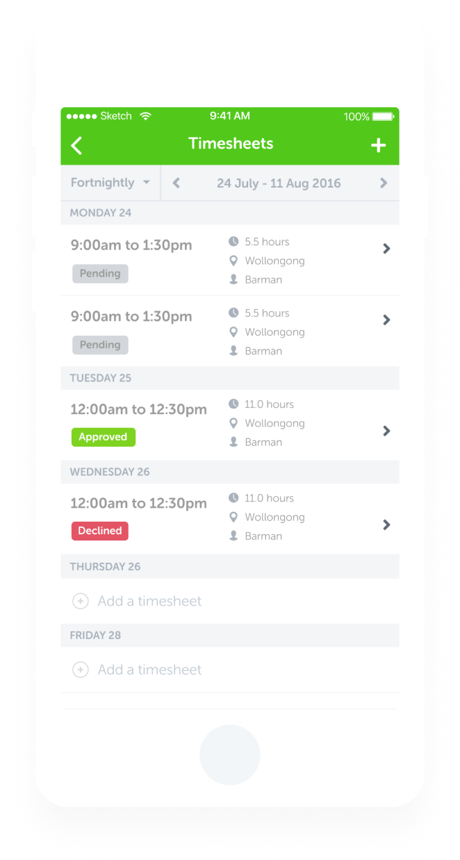 WorkZone Timesheet - KeyPay
