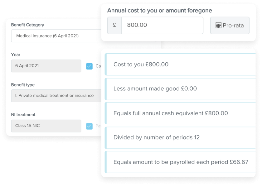 KeyPay P11Ds automated benefit calculations
