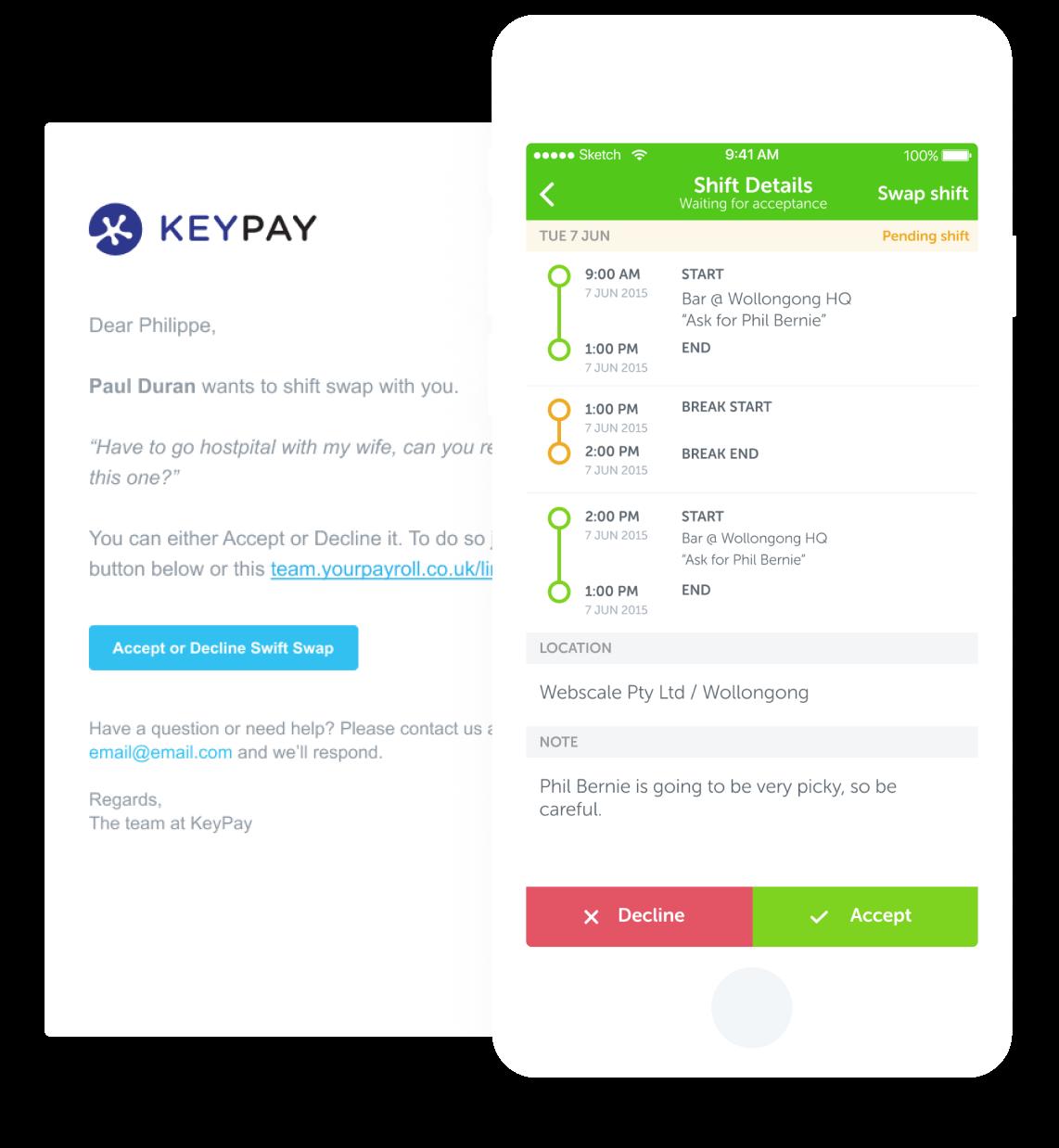 Staff Communication - KeyPay