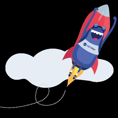 Bertie rocket flying through the sky