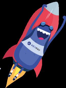 Bertie flying as a rocket illustration