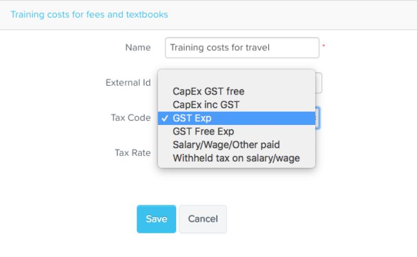 Tax code - KeyPay