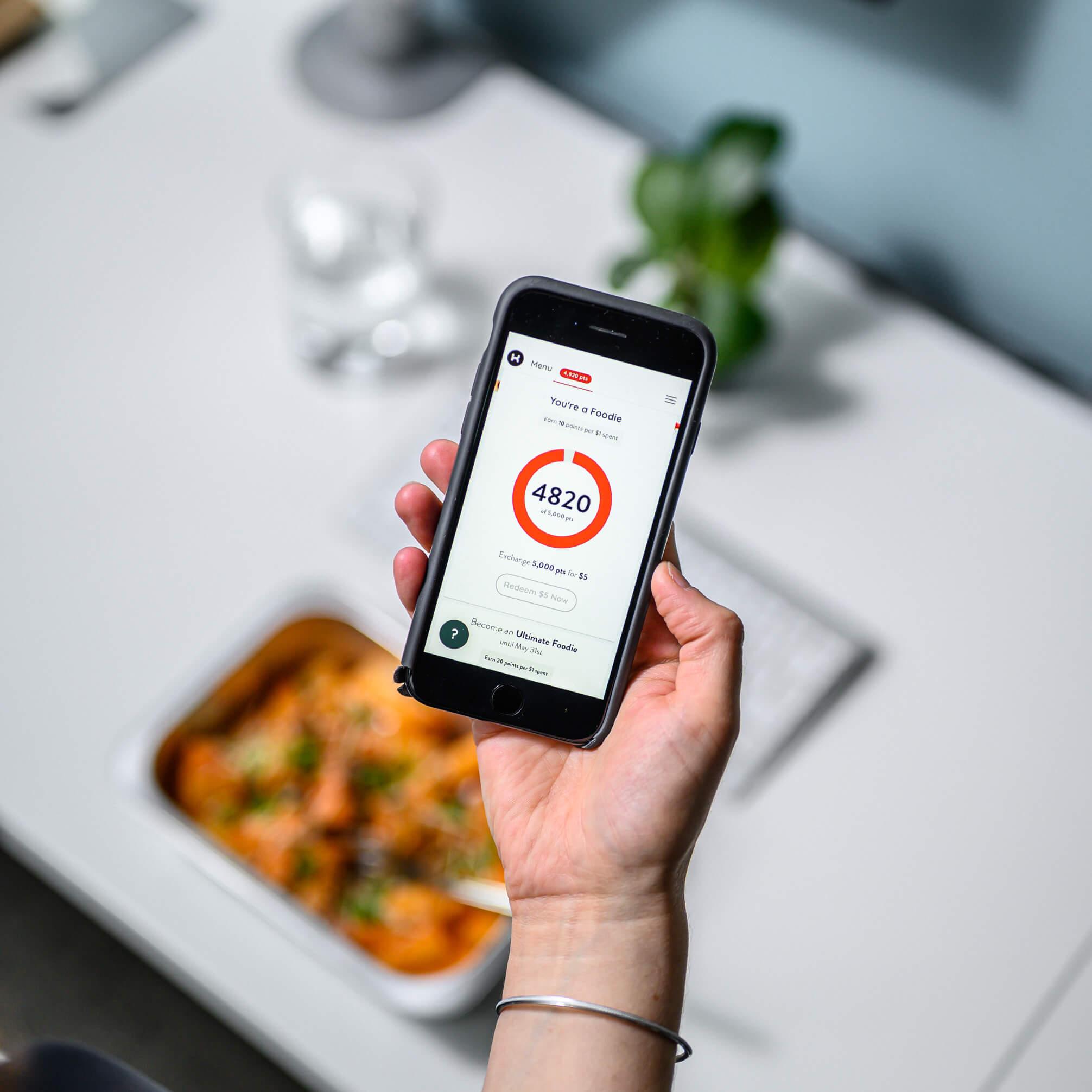 KitchenMate app earn points