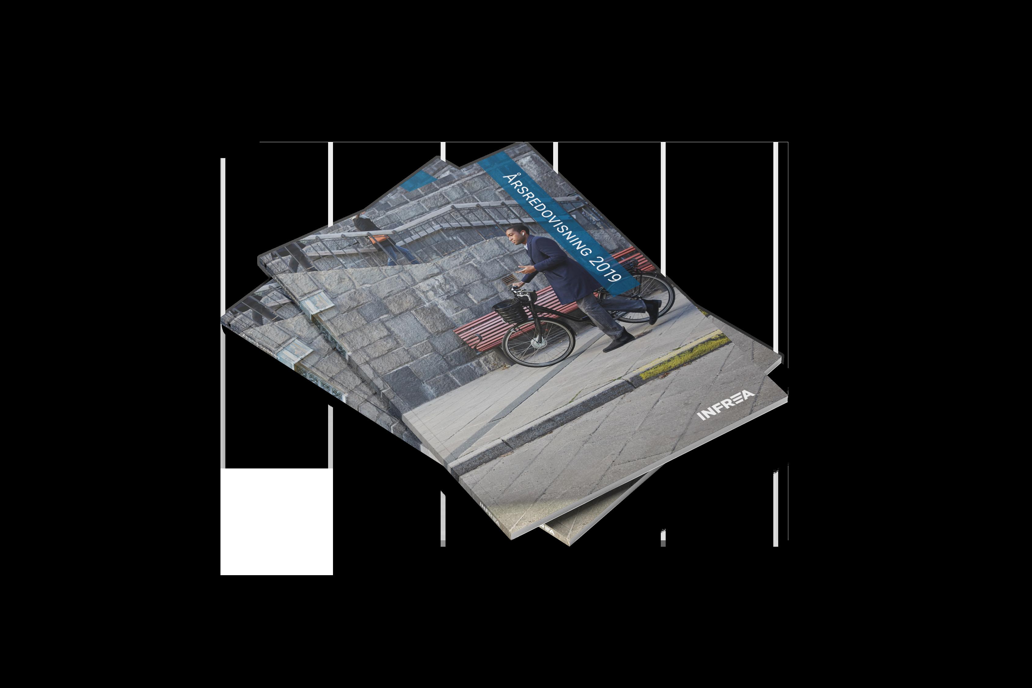 Framsida på Infreas Årsredovisning 2019.