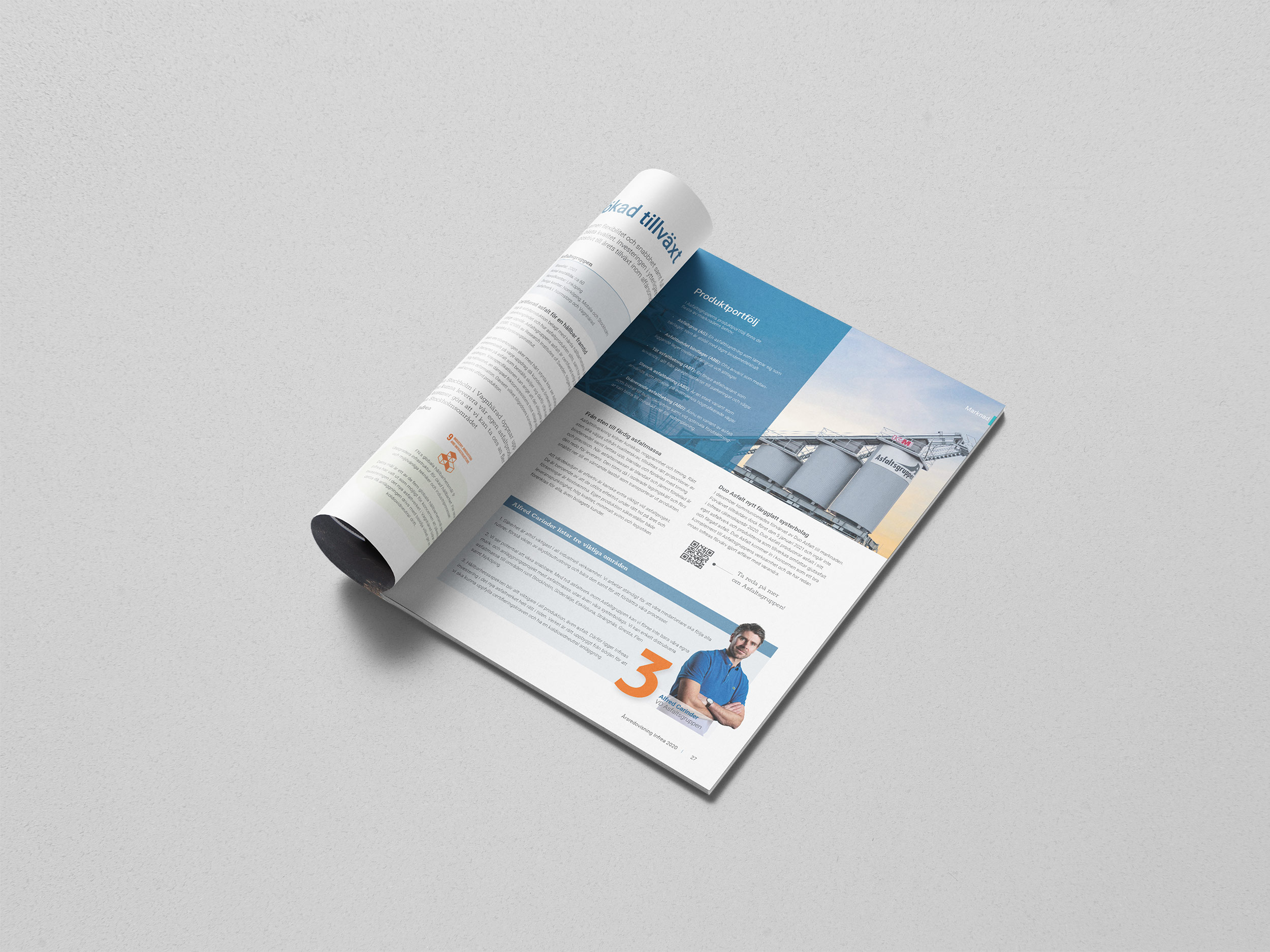 Infreas Årsredovisning 2020 finnsbåde i tryckt och i digitalt format.