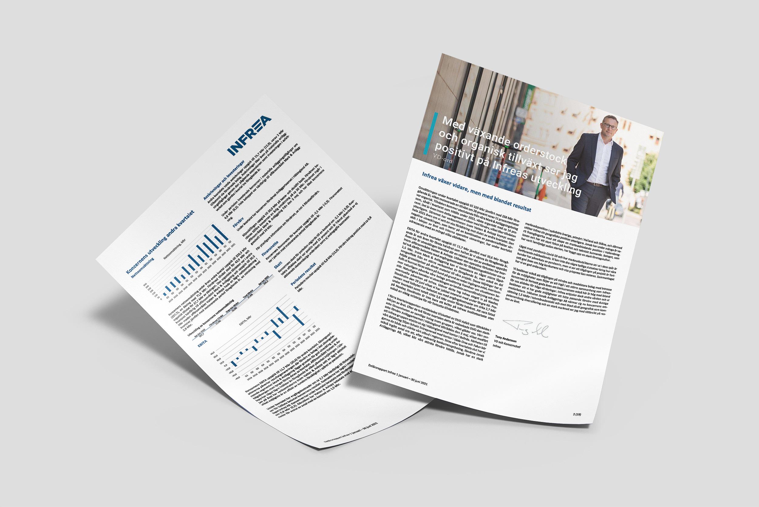 Delårsrapporten är en viktig del av börsnoterade Infreas finansiella rapportering.