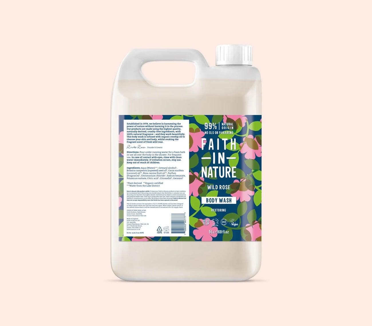 rose hand wash refill bottle